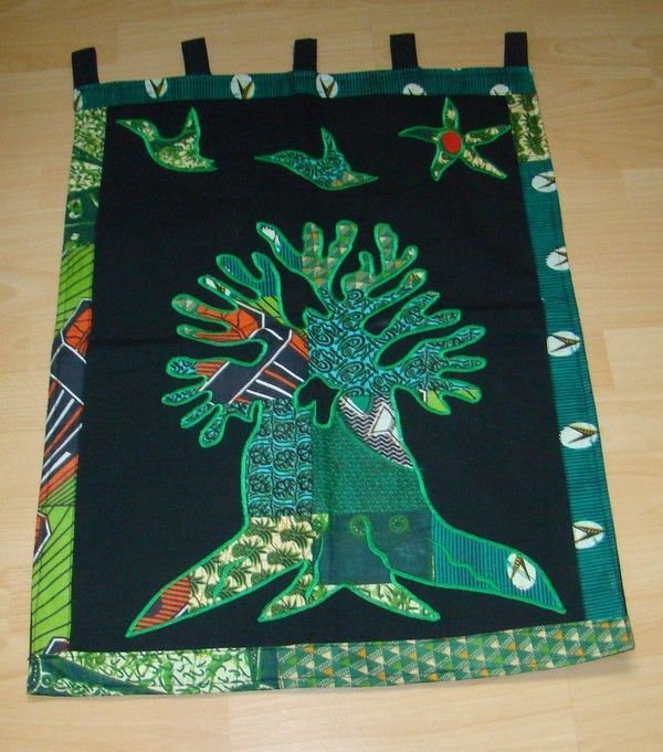 Tenture murale africaine d co arbre s n gal for Decoration murale africaine
